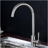 Acier inoxydable 304 chaude et froide du robinet mélangeur évier de cuisine