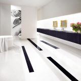 Tuile Polished vitrifiée blanche de porcelaine de Carrare de matériau de construction pour l'étage et le mur