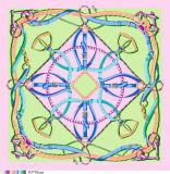 Concevoir l'écharpe en fonction du client de soie de grand dos d'impression de Digitals