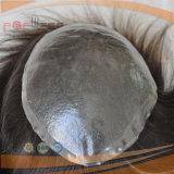 Toupee dei brevi uomini rivestiti di silicone pieni di lunghezza (PPG-l-01312)