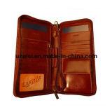 Бумажник пасспорта кожи портмона руки владельцев карточки пасспорта билета перемещения