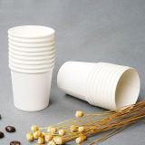 Tazza di tè di carta calda bianca della tazza di caffè del commestibile