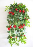꽃 벽을%s 도매 푸른 잎 인공적인 벽 커튼 플랜트 가짜 덩굴