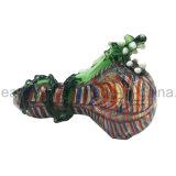 Dragão ciano a tubulação complicada da colher tem as listras diferentes da cor (ES-HP-165)