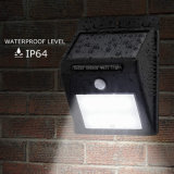 IP65 LED PIR 센서 옥외 벽 램프를 가진 태양 가벼운 정원 벽 빛