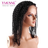 Ивонна верхней части продажи прав Virgin волосы спереди Wig Kinky фигурные кружевом