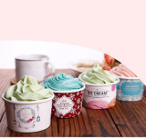 8oz jetable bol de crème glacée de papier