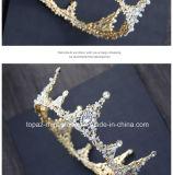 2018 de Nieuwste Aangepaste Bruids Kroon van de Tiara's van de Gift van de Partij van Kerstmis van Stonne van het Glas van het Huwelijk van de Kroon van het Kristal Barokke (BC-09)