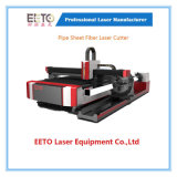 máquina de estaca do laser da folha da tubulação 1000W com altura do ajuste