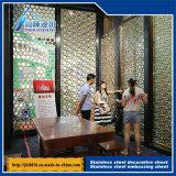 en métal décoratif de 201 304 316 feuille gravante en relief constructeurs de plaque de plaque de cavité d'acier inoxydable