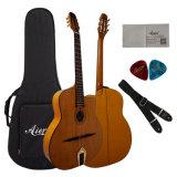 Guitarra acústica aciganada de madeira econômica e de confiança