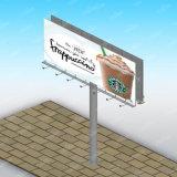 Route annonçant le panneau extérieur d'étalage de signe
