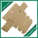 Caja de cartón de encargo plegable de encargo de Brown de la buena calidad/rectángulo de almacenaje