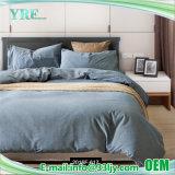 青い綿の糸の染められた低価格のホテルの寝具