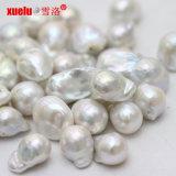 13-15mmの白い淡水のバロック式の破損の低下の真珠の緩いビードは、高品質卸し売りする