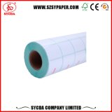 Térmica engomada de papel en blanco de etiqueta adhesiva
