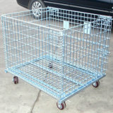 Warehouse Metal Folding camera Wire Mesh Container/Cage