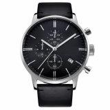 2017 relojes ocasionales de los hombres del reloj del deporte de la manera de cuero de lujo superior de la marca de fábrica