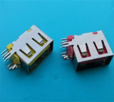 Conetor plástico do USB da entrada 2.0 a/F do lado do escudo