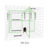 Пересекающаяся линия собственная личность касания 5 выравнивая зеленый уровень лазера