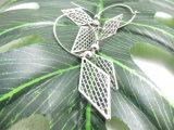 포도 수확 모조 보석을%s 도금되는 은에 있는 Gridding 다이아몬드 모양 귀걸이