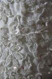 Изготовленный на заказ отбортовывая платья венчания 2018 мантии шарика лифа шнурка Bridal