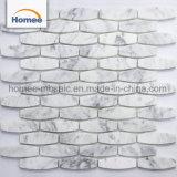 Het verfraaien van Tegel van de Muur van het Mozaïek van de Badkamers van Carrara van de Muur de Witte Hexagon Marmeren