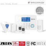 Сигнал тревоги GSM индикации LCD беспроволочный домашний с ключом касания