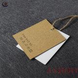 Étiquette de papier d'impression de qualité avec trou pour vêtement