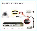 câmara de segurança Vandalproof da abóbada do CCTV da luz das estrelas de 720p 1MP Ahd