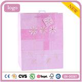 Blumen-Muster-Rosa-Bekleidungsgeschäft-Kunst-Geschenk-Papierbeutel