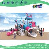 Outdoor nouveau bleu et rose enfants moderne Airship en acier galvanisé pour la vente de terrain de jeu (HG-10501)