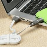 Comunes de alta calidad 2 1 cesta cable de datos de fideos para Android / iPhone