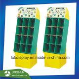 Impressão Offset 4c Pop OEM com piso de papelão 12 bolsos para luzes promocional, China Fabricante de Exibição de cartão