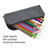 3パックのペンのホールダーの硬貨の装飾的な袋袋の耐久力のあるフェルトの筆箱