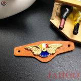 Metallo reso personale abitudine Logo Leather Contrassegno per vestiti