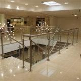 Diseños de cristal del pasamano de Alumium del balcón
