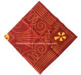 Продукция фабрики Китая подгоняла шарф квадрата хлопка Paisley печати логоса красный