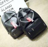 Les femmes en cuir noir PU populaire Lady sac à dos