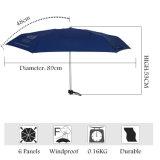 Lady Fashion Logo personnalisé Publicité 5 Mini Parapluie de poche de pliage
