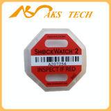 Sticker van de Indicator van de Schok van het Etiket van het Effect van Shockwatch2 50g l-47 de Rode