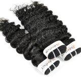 Перуанской глубокую вьющихся волос Virgin необработанной заготовки для розничной торговли (Категория 9A)