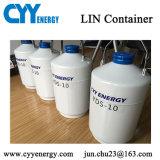 Bouteille cryogénique de mémoire d'azote liquide de capacité chaude de la vente 10L