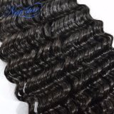 Оптовые бразильские глубокие пачки 100% & закрытие человеческих волос девственницы волны