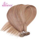 Estensione dei capelli umani di Remy del Virgin di colore #10 delle parrucche del K.S capovolgo Hair