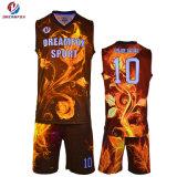 カスタムスポーツ・ウェアはバスケットボール人のための均一デザインバスケットボールのジャージを昇華させた