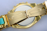 Wristwatch глаз движения 3 японии кремния случая нержавеющей стали материальный