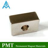 N42 de Permanente Magneet van het Blok met Gat Twee Counterbore