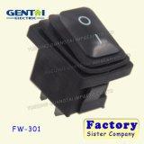 3 6A encendido-apagado iluminados Pin 250V impermeabilizan el interruptor de eje de balancín