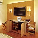 Unidade de parede de madeira personalizada moderna do hotel de Canadá no revestimento do carvalho para a tevê